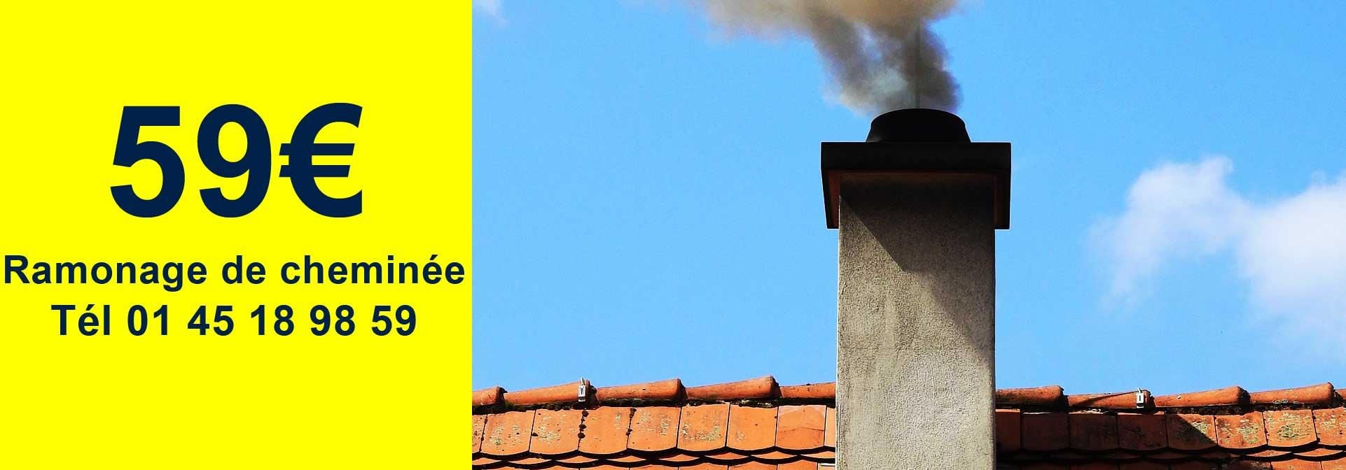 ramonage cheminee paris ile de france 59€, Ramonage Rungis 94150